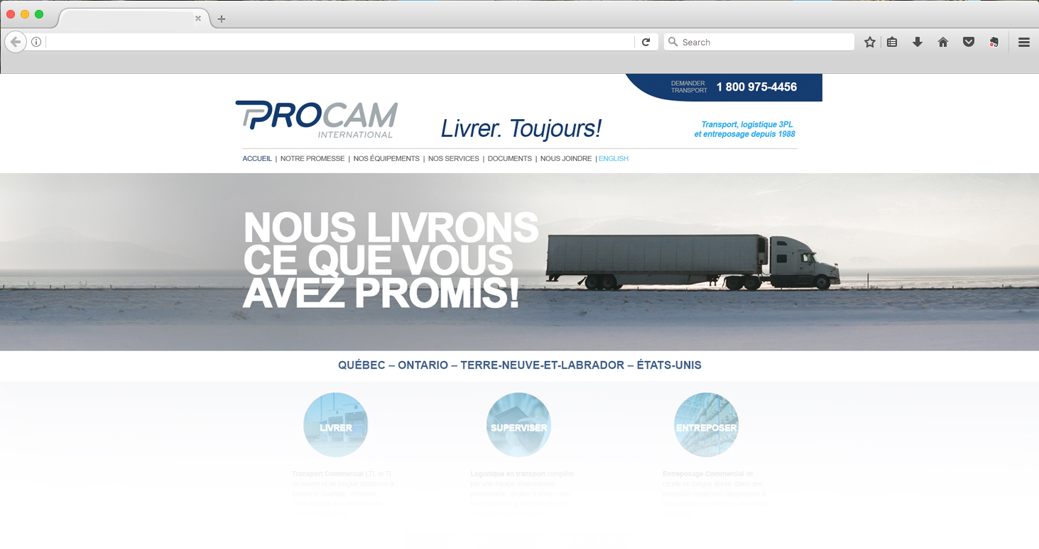 Site Web Procam International